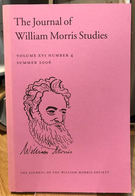 Image for The Journal of William Morris Studies. Volume XVI / 16 , Number 4, Summer 2006