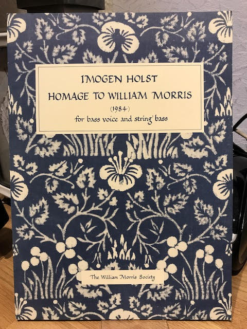 Image for Homage to William Morris for Bass Voice and String Bass