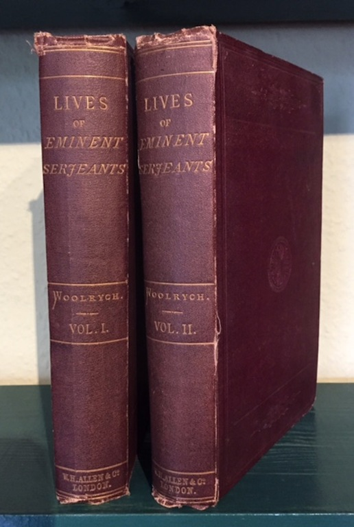 Image for Lives of Eminent Serjeants-At-Law of the English Bar. In two volumes.